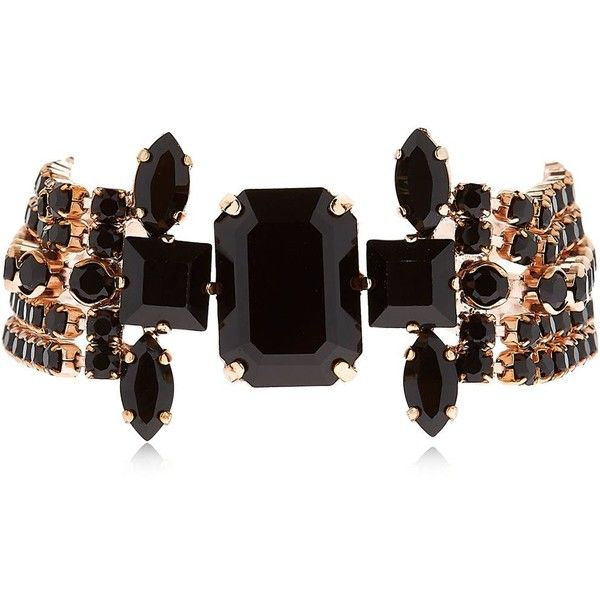 Isabel Marant Women Holly Crystal Bracelet ($355) ❤ liked on Polyvore featuring jewelry, bracelets, adjustable bangles, crystal bangles, isabel marant, crystal jewellery and isabel marant jewelry