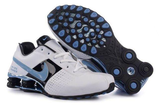 Vit Blå Kvinna Nike Shox OZ Skor 11098 Rea