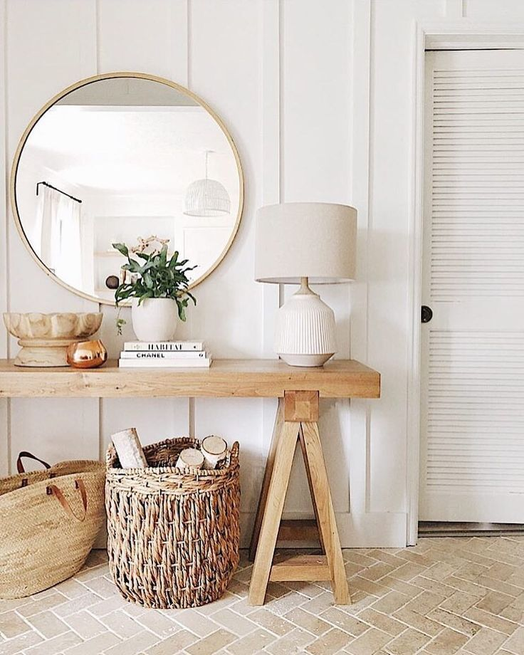 Bright Natural Light A Big Mirror To Reflect Warm Neutral
