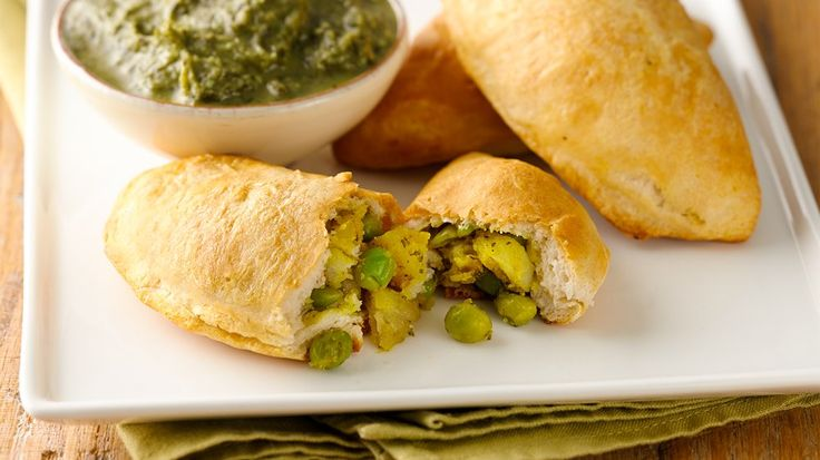 Be adventuresome and make your own samosas - it's easy with Grands! biscuits for the wrapper and purchased chutney.
