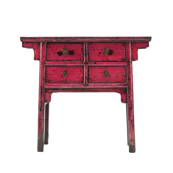 Antique Hot Pink Small Console www.theimporter.co.nz