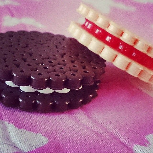 3D Biscuits hama beads by kimmibows