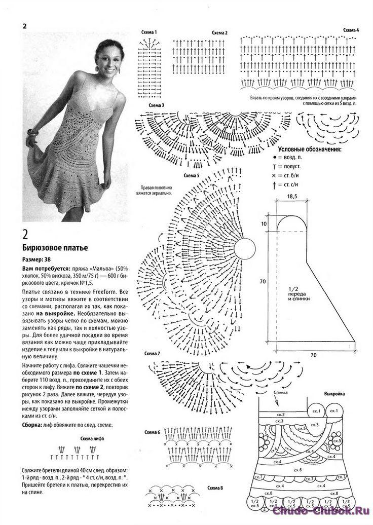 коллекционированию картинки вязаные сарафаны крючком со схемами так люблю болота