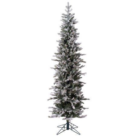 Vickerman Artificial Christmas Tree 9' x 30 inch Frost Tannenbaum Dura-Lit 550 Clear Lights, White
