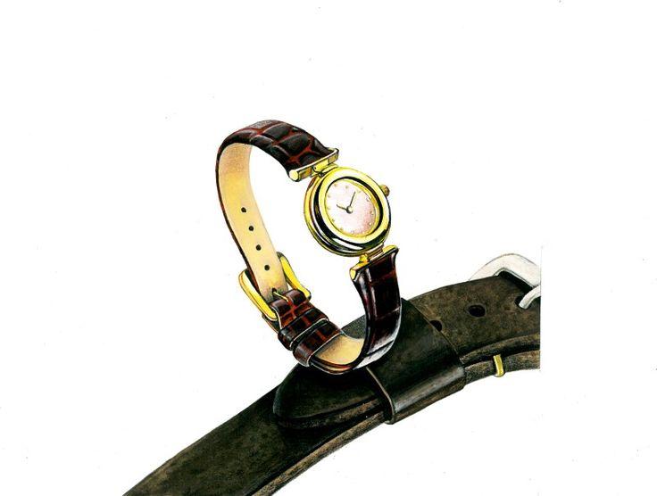 김포 길 미술학원에서 준비한 개체표현 이번 기초디자인 개체 표현은 손목시계 묘사입니다. 미션 화이트 클...