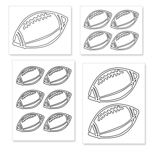 Free Printable Football Shapes from PrintableTreats.com