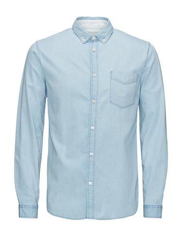 - Slim-Fit-Hemd für eine elegante Form - Weicher und bequemer Baumwollstoff - Hellblauer Denimstoff für einen klassischen Look - Das Model trägt Größe L und ist 187 cm groß - CORE by JACK & JONES