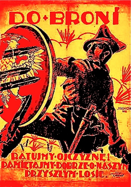 Polish Soviet Propaganda Poster 1920