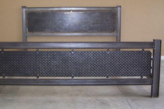 Structure en acier industriel transmettre des meubles lit cadre Seamless homme de tête de lit fer grotte