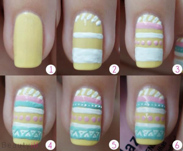 DIY Nail Art | Aztec, Easter ~ Beautyill | Beautyblog met nail art, nagellak, make-up reviews en meer!