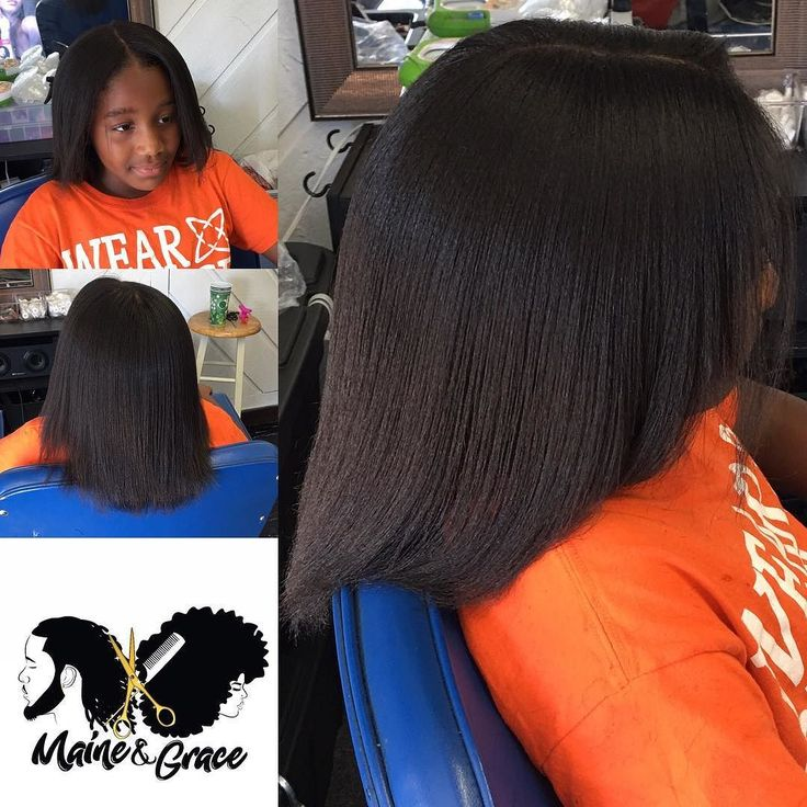 Her first time getting her natural hair pressed!!! No treatment. Just good old deep condition and a good flat iron lol!