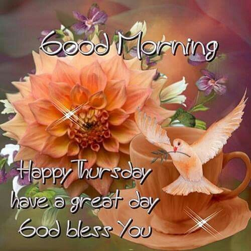 Good Morning, Happy Thursday, Have A Great Day. God Bless You good morning…