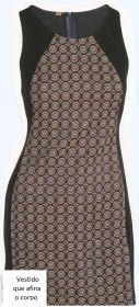 molde, corte e costura : Vestido que Afina o Corpo. Marlene Mukai: Este modelo de tubinho, com recorte lateral, confeccionado com duas cores ajuda a afinar a silhueta. Segue esquema de modelagem do 36 ao 56.