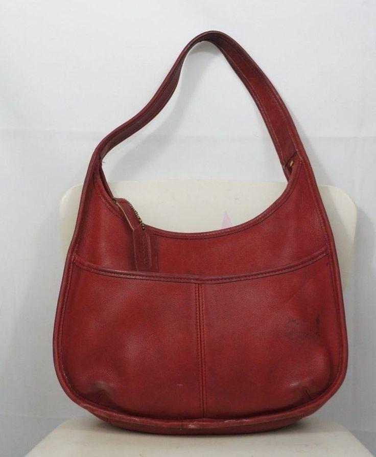 Vintage COACH Hobo Bag Leather H7D 9033 #Coach #Hobo