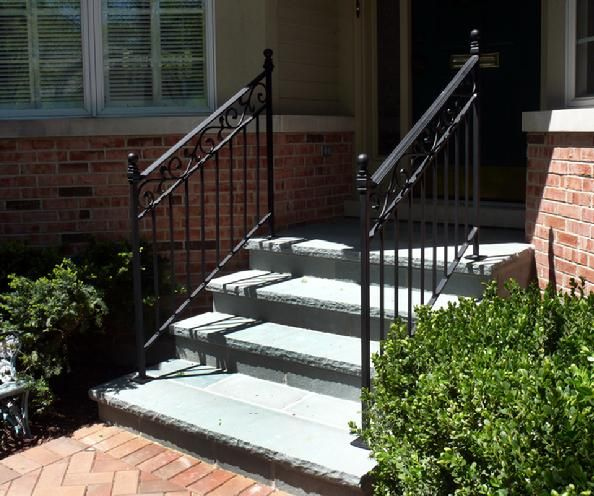 52 best images about stair railing on pinterest wooden - Wrought iron handrails for exterior stairs ...
