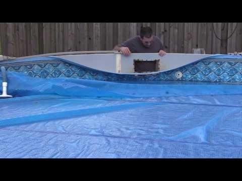 Pool Skimmer Hole Repair How To Repair A Leaking Skimmer Pool Skimmer Above Ground Swimming Pools Pool