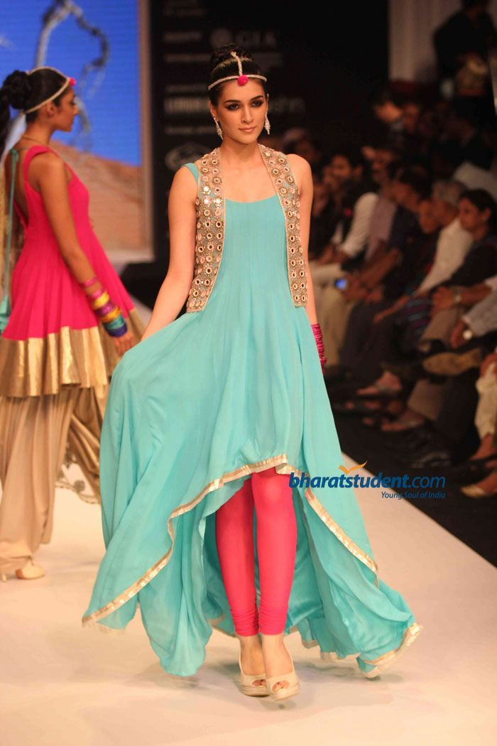 pretty colours and the blingy mirrored jacket to lighten up the plain shades. Gitanjali's Sangini Show at IIJW 2012