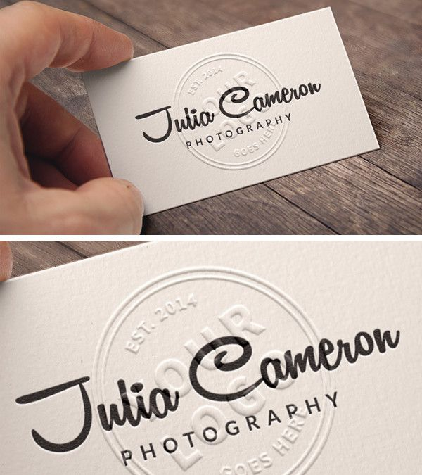 embossed free business card mockup template psd  business
