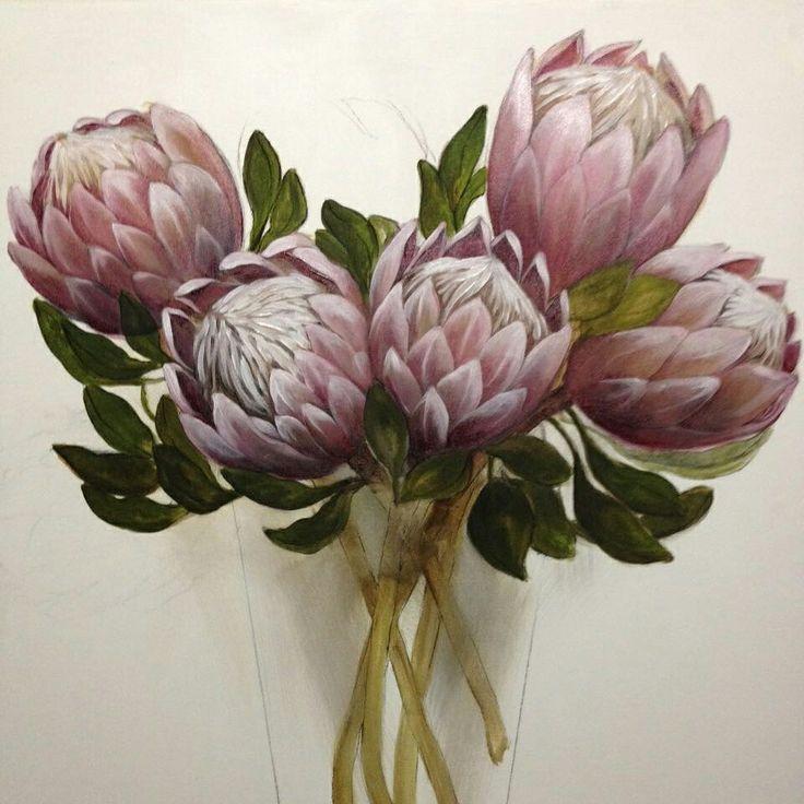 Kings in a vase. Oil on canvas. Melissa Von Brughan.
