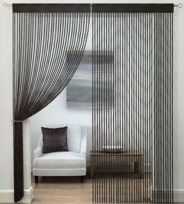 String curtain black thread curtains Decorating Ideas