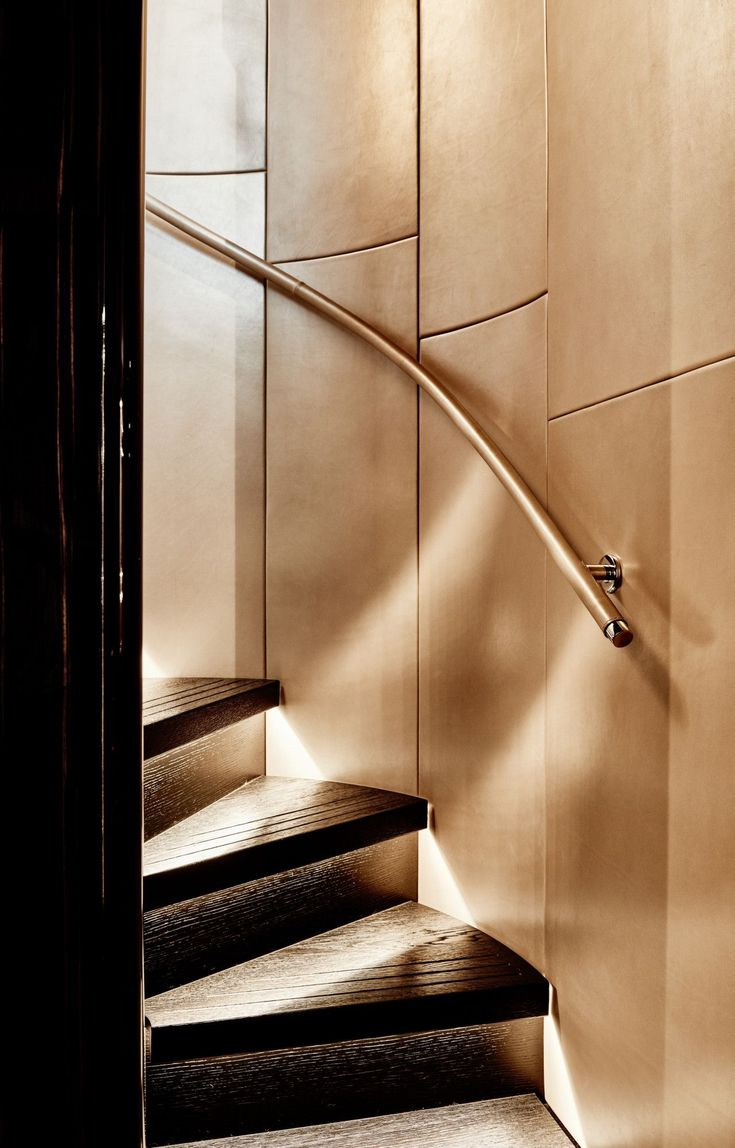 Best Excellent Example Of Curved Staircase And Hand Made Panels 400 x 300