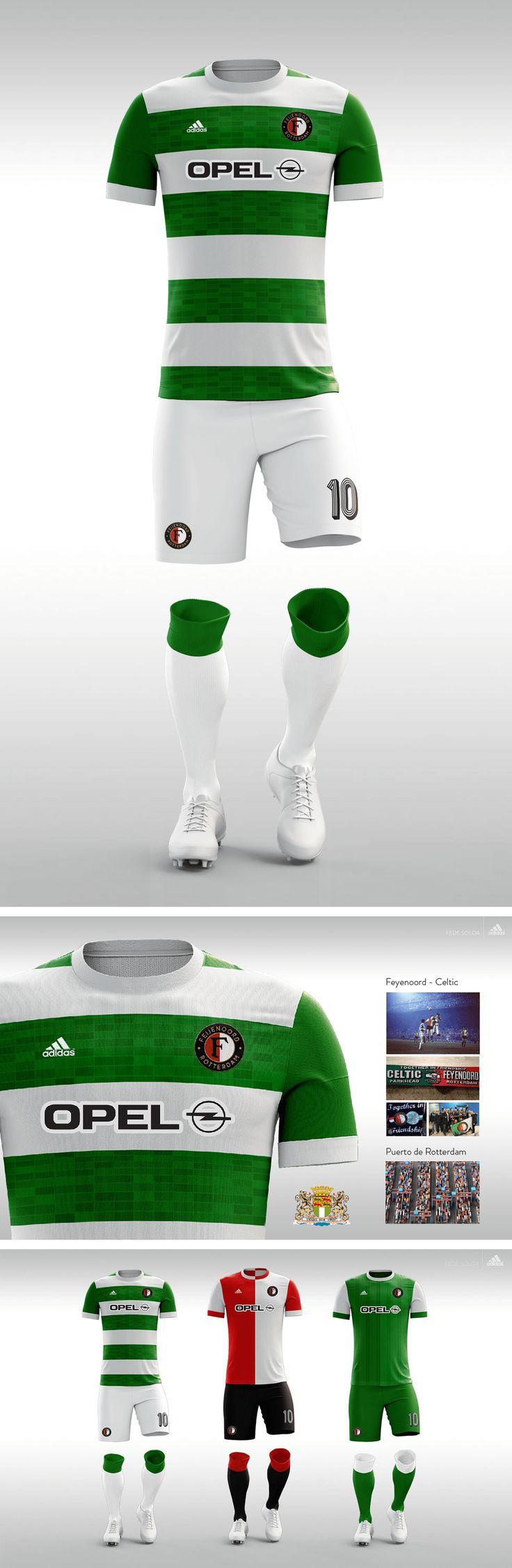 FEYENOORD. Proyecto camisetas de fantasía. #Jersey #Feyenoord #adidas #eredivisie #futbol #soccer #football #fantasy