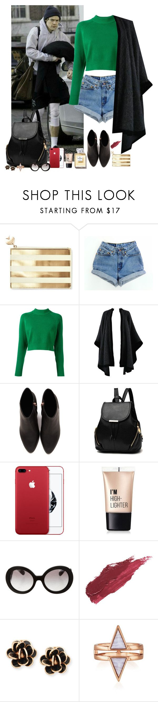"""""""Harry Styles #141"""" by ambere3love34 ❤ liked on Polyvore featuring Kate Spade, GET LOST, Levi's, DKNY, Yves Saint Laurent, Alexander Wang, Charlotte Russe, Prada, Lily Lolo and Chantecler"""