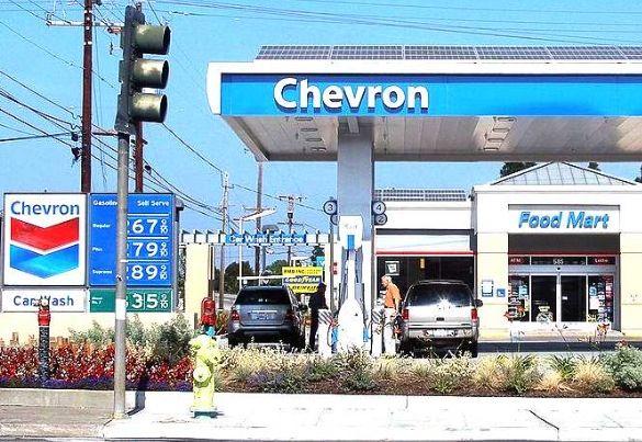Chevron garage in America