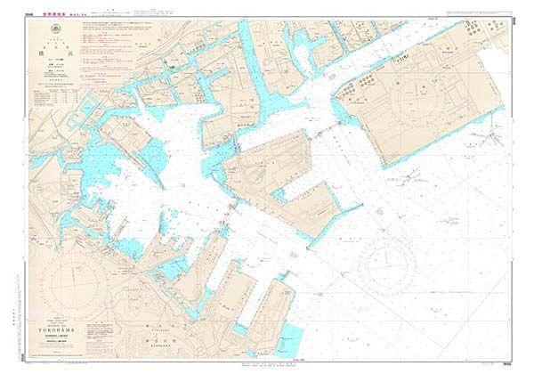 京浜港横浜 航海用海図 - 東京湾付近 / 地図のご購入は「地図専門のマップショップ」
