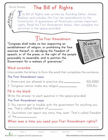 Bill of Rights For Kids - Layers of Learning