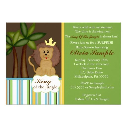 17 Best Images About Jungle Baby Shower Invitations On