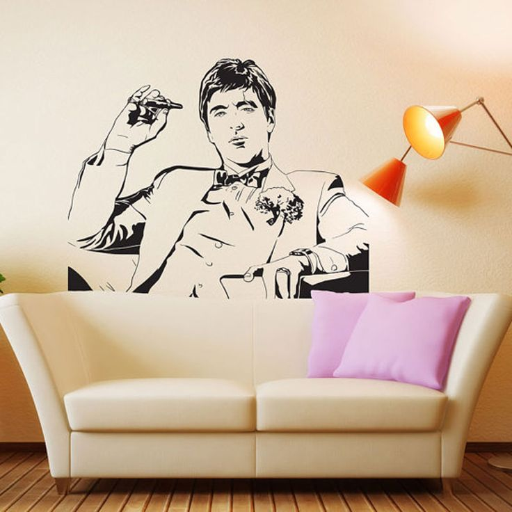 Scarface Movie Tony Montana Wall Decal Decor Sticker Vinyl Poster Wall art Scarface Wall Decal Scarface Poster Scarface Decor Sc
