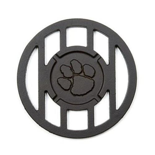 Pawprint Sports Mascot Inspired Round Branding Grill Iron Accessory