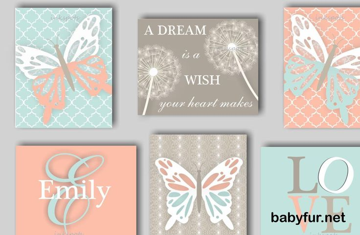 Butterfly Nursery Art Dandelion Nursery Bedding Decor Butterfly Nursery Bedding…
