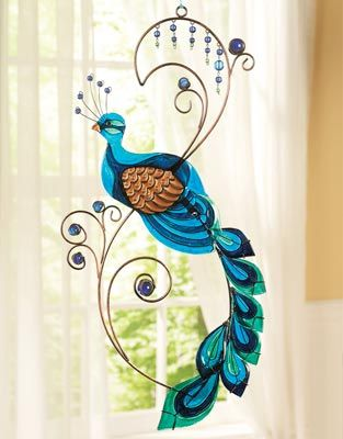 peacock kitchen decorations | Metal Peacock Wall Art from Collections Etc.