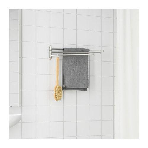 Brogrund Towel Holder 3 Bars Stainless Steel Towel Holder Small Bathroom Organization Towel