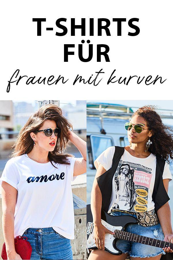 T-Shirts in großen Größen für kurvige Frauen