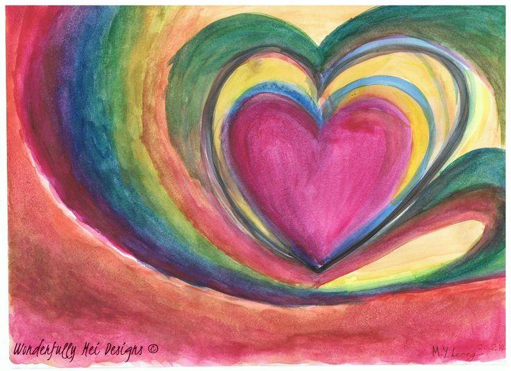 Eternal Heart     Available as Canvas print;   30 X 20 cm (£20)   40 X 30 cm (£28)