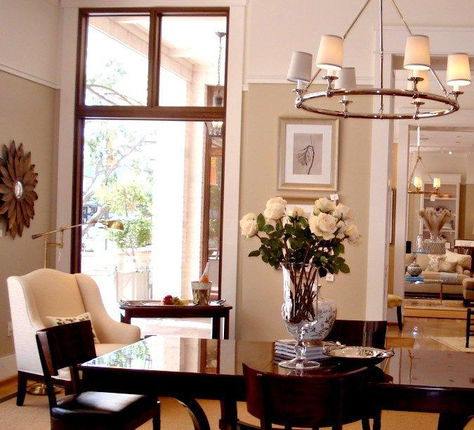 347 best dining spaces images on pinterest dining room for Manhattan tan paint color