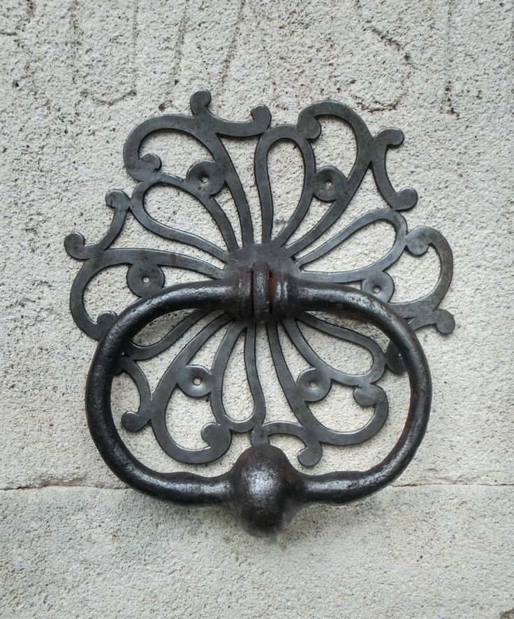 French wrought iron doorknocker