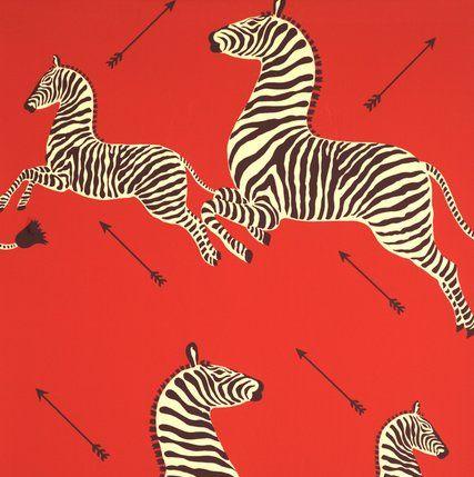 Scalamandre zebra #wallpaper. #decorate (Photo by: http ...