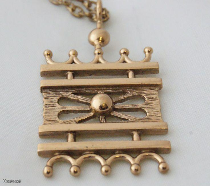 Pertti Peuri, vintage bronze pendant.