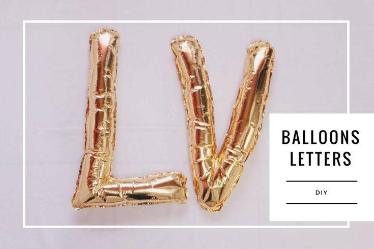 Como Fazer Balões Metalizados de Letras