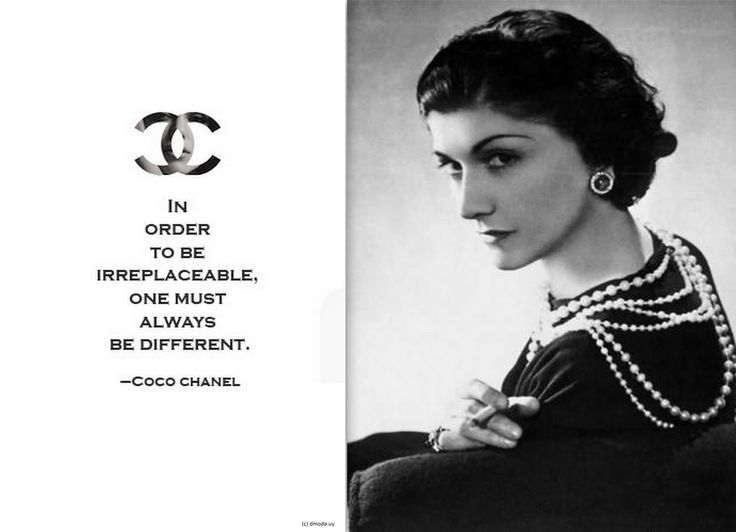 fashion masterpiece coco chanel stay classy be rare food for thought pinterest. Black Bedroom Furniture Sets. Home Design Ideas