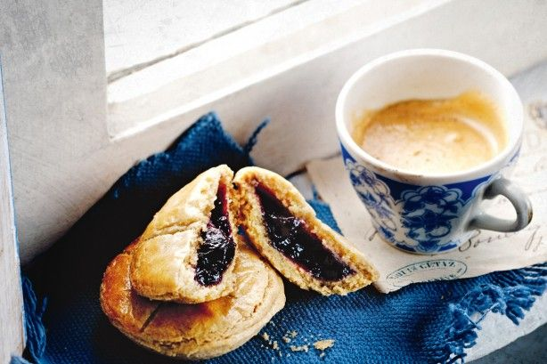 Sip something sweet and strong as you nibble these fruity jam tarts with their crumbly almond and vanilla bean shortcrust cases.