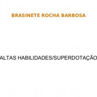 BRASINETE ROCHA BARBOSA ALTAS HABILIDADES/SUPERDOTAÇÃO   Concepção Capacidade de aprendizagem acima da média, nas áreas de interesse (Literatura, Artes, M. http://slidehot.com/resources/apresentacao-a-h.38257/