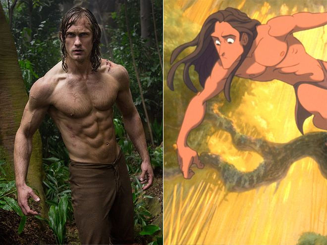 ALEXANDER SKARSGARD, TARZAN The live action adaptation, The Legend of Tarzan, isn't being produced by Disney, but there's no denying that the character is a Disney classic. To prepare for the role, Skarsgard got even more chiseled than animators could have imagined!