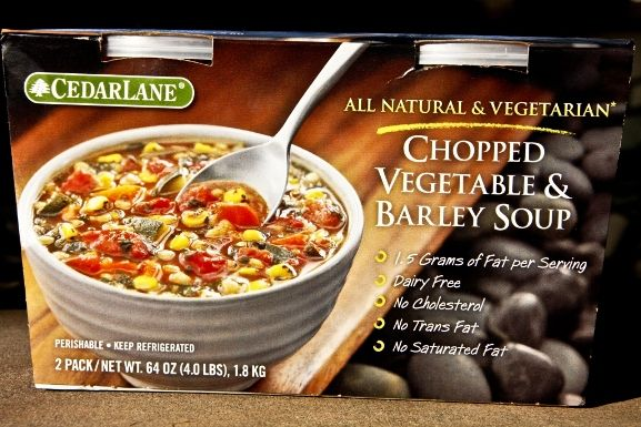 Cedarlane Soup Chopped Veggies & Barley Soup from COSTCO. I love it ...