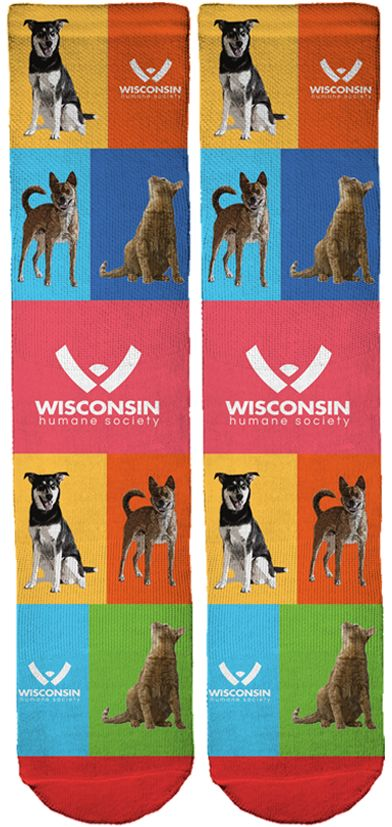 Limited Edition Wisconsin Humane Society Crew Socks