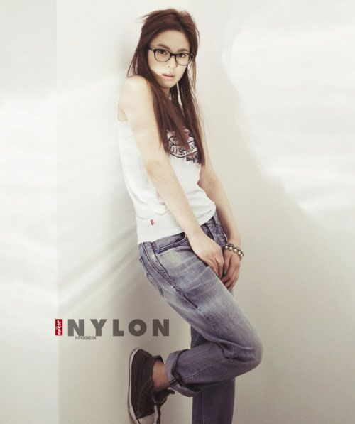 Korean actress Song Hye-kyo in Levis for Nylon magazine